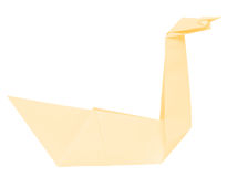 Origami swan Royalty Free Stock Images