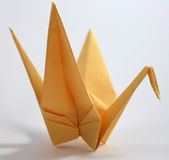 Origami Swan Stock Photo