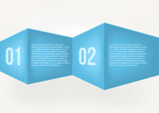 Origami sztandar, wektorowa ilustracja Fotografia Stock