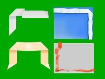 Origami sztandary royalty ilustracja