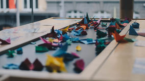Origami on table Royalty Free Stock Photography