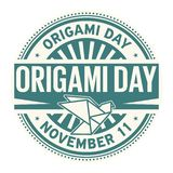 Origami Tag, am 11. November vektor abbildung