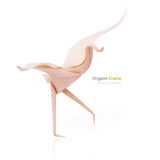 Origami tender crane Royalty Free Stock Image