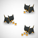 Origami for text (options or steps), cats Royalty Free Stock Images