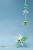 Origami on thread Royalty Free Stock Images