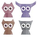 Origami-Tierillustrationen Lizenzfreies Stockfoto