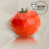 Origami tomato. The illustation of tomato in origami style Stock Photography