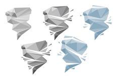 Origami tornado lub wiatr Royalty Ilustracja