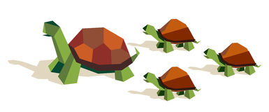 Origami tortoise family Royalty Free Stock Images