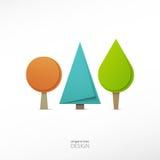 Origami trees Stock Photo