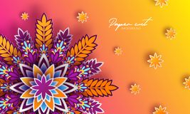 Origami trendy design template. Paper cut abstract background. Colorful elements for your design. Applicable for flyer. Brochure, backdrop, cover, packaging Stock Images