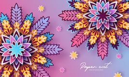 Origami trendy design template. Paper cut abstract background. Colorful elements for your design. Applicable for flyer. Brochure, backdrop, cover, packaging royalty free illustration