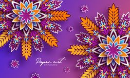 Origami trendy design template. Paper cut abstract background. Colorful elements for your design. Applicable for flyer. Brochure, backdrop, cover, packaging vector illustration