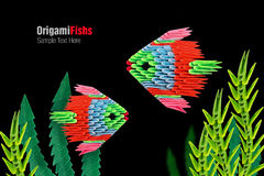 Origami tropical fish Stock Photography