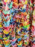 Origami Tsuru arkivbild
