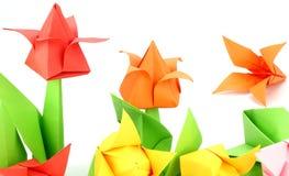Origami Tulip Flower Stock Foto's