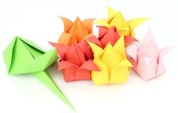 Origami Tulip Flower Royalty-vrije Stock Afbeeldingen