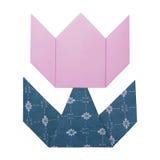 Origami tulipanu papier Fotografia Stock