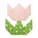 Origami tulipanu papier Obraz Royalty Free