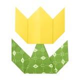 Origami tulipanu papier Zdjęcia Stock
