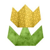 Origami tulipanu papier Obrazy Royalty Free