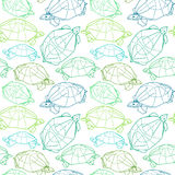 Origami turtles drawing illustration. Royalty Free Stock Photography