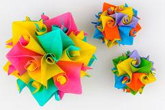Origami twirling model Royalty Free Stock Photos