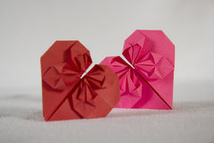 Origami - two hearts out of paper - 2.2 Stock Image