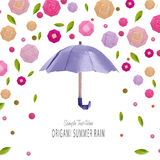Origami umbrella with flowers Stock Photography