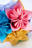 Origami unit flowers stock photography