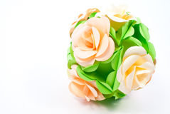 Origami unit flowers Stock Photo
