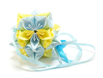 Origami unit flowers Royalty Free Stock Photos