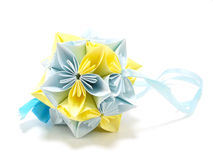 Origami unit flowers Stock Photo
