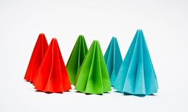 Origami units, color concept Royalty Free Stock Image