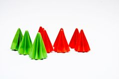 Origami units, Difference concept Royalty Free Stock Image