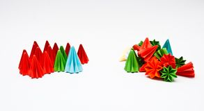 Origami units, Difference concept Royalty Free Stock Photos