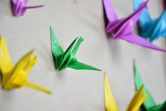 Origami Żuraw Zdjęcia Royalty Free