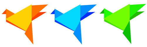 Origami Vögel Lizenzfreie Stockfotos