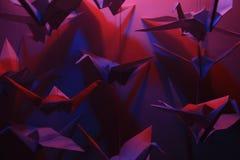 Origami Vögel Stockfoto
