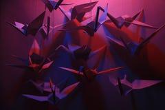 Origami Vögel Lizenzfreie Stockfotografie