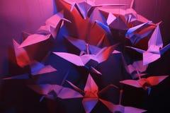 Origami Vögel Stockbilder