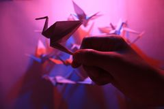 Origami Vögel Stockbild