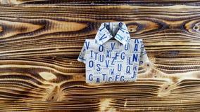 Origami van overhemd Royalty-vrije Stock Foto
