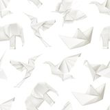 Origami vector seamless pattern vector illustration