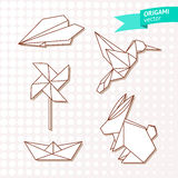 Origami vector set Stock Images