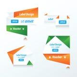 Origami verde, blu dell'insegna, arancio Fotografia Stock Libera da Diritti