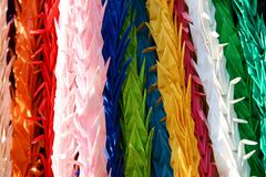Origami Vögel Stockfotos
