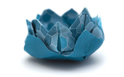 Origami water lily model Stock Image