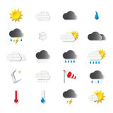 Origami weather icons Royalty Free Stock Images