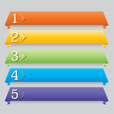 Origami Web-Auslegungfahne für Web site Lizenzfreies Stockfoto